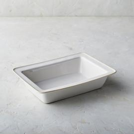Costa Nova Astoria Rectangular Baker in White Finish