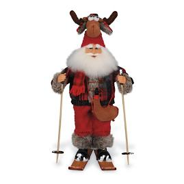 Moose Hat Ski Santa Figure