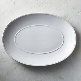 Costa Nova Friso Oval Serving Platter in White