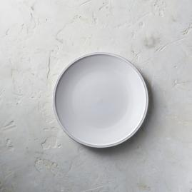 Costa Nova Friso Salad Plates in White Finish,