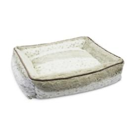 Faux Fur Lynx Dog Bed