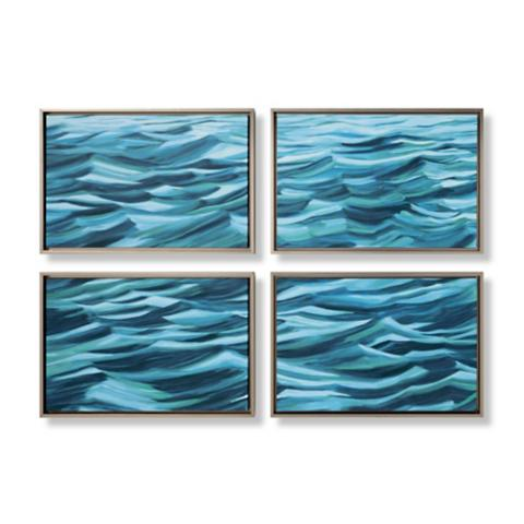 4 piece waves wall art collection