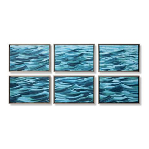 6 piece waves wall art collection