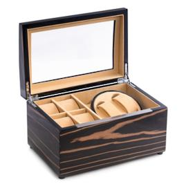 Lacquered Ebony Wood Watch Winder