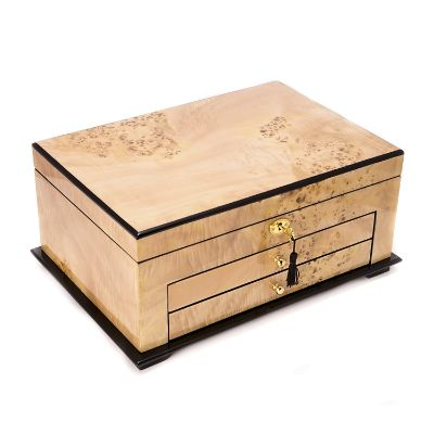 Lacquered Birdseye Maple Jewelry Box Frontgate