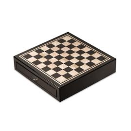 Carbon Fiber and Mother-of-Pearl Chess Set