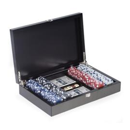 Poker Set in Carbon Fiber Case