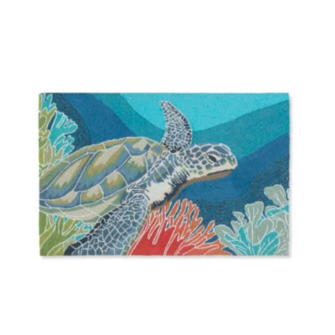 Swimming Sea Turtle Entry Mat Frontgate