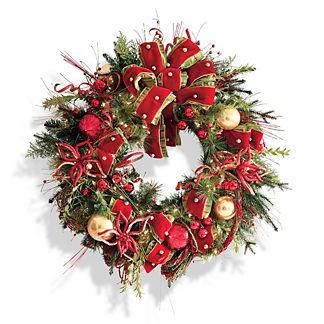 Glad Tidings Pre-decorated Wreath