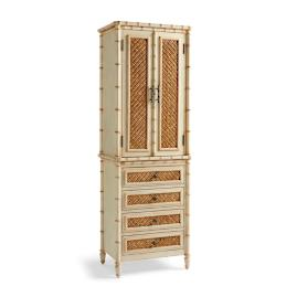 Landon Bath Cabinet in Distressed Sand Finish