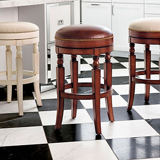 "Olivia Swivel Backless Bar Height Bar Stool (30""H seat)"