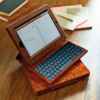 iPad Air Case with Bluetooth Keyboard in Burlwood