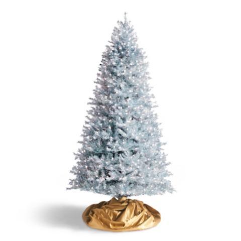 Silver Slim Christmas Tree Part - 46: Tinsel LED Quick Light Silver Slim Artificial Christmas Tree