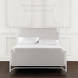 Park Lane Canopy Bed in White Finish