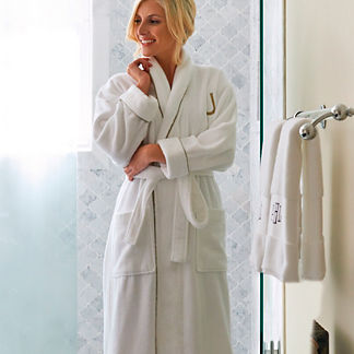 Women's Resort Piped Robe with Monogram