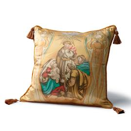 Holy Family with Angels Pillow