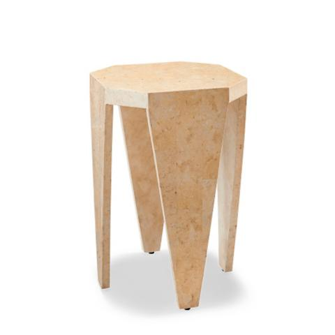 Mactan Stone Octagon Side Table