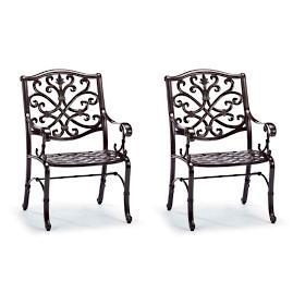 Orleans Dining Arm Chairs in Chocolate Finish, Set