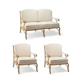 Orleans 3-pc. Loveseat Set in Biscayne Finish