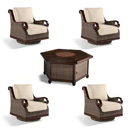 St. Martin 5-pc. Chat Set with Woven Fire