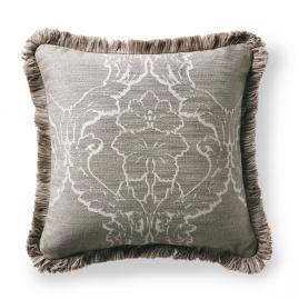 Acanthus Frame Pewter Outdoor Pillow