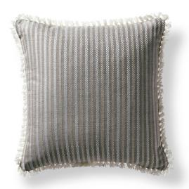Fairway Stripe Slate Outdoor Pillow