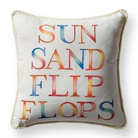 Sun and Sand Natural Outdoor Pillow