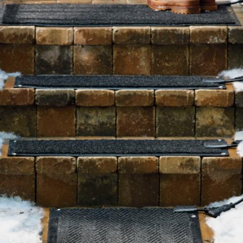 Outdoor Heated Stair Mats Starter Kit