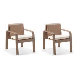 Arezzo Dining Arm Chairs, Set of Two