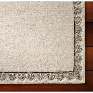 Jaimey Tufted Border Area Rug