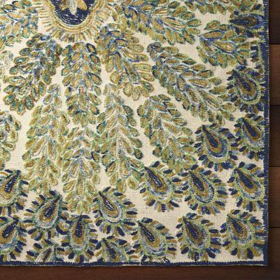 Peacock Area Rug Frontgate