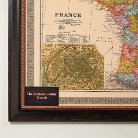 Personalized Plaque for France Travel Map