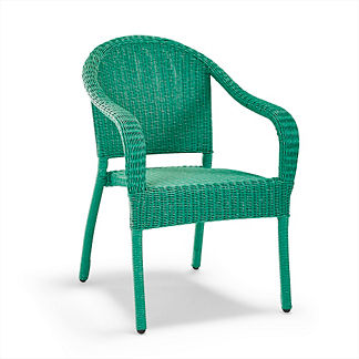 Set of Two Cafe Stacking Arm Chairs