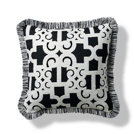 Oriental Gate Onyx Outdoor Pillow