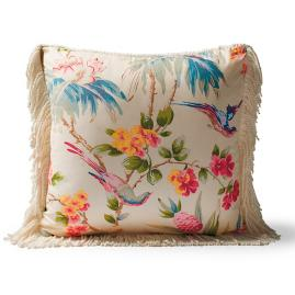 Scalamandre Bird Song Peony Indoor/Outdoor Pillow