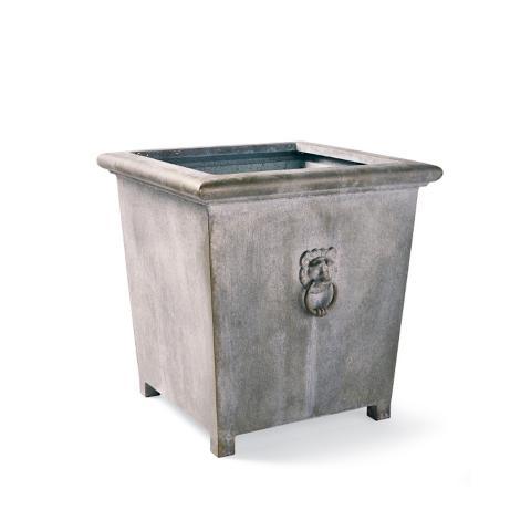 Lowe Square Zinc Planter | Frontgate on zinc trough planter, zinc planter trays, zinc finish,
