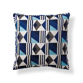 Amalfi Tile Modern Boxed Indoor/Outdoor Pillow - Cobalt
