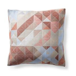 Faceted Angles Lunar Outdoor Pillow by Porta Forma