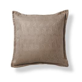 Deco Lines Taupe Flanged Outdoor Pillow