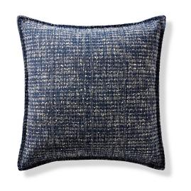 La Molina Navy Flanged Outdoor Pillow
