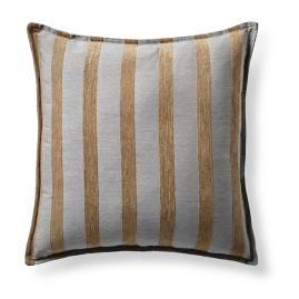 Miyoki Stripe Flax Flanged Outdoor Pillow