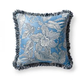 Bermuda Breeze Indigo Outdoor Pillow
