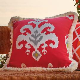 Kasuri Bliss Outdoor Pillow