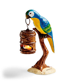 Margaritaville Parrot with Tiki Head Lantern