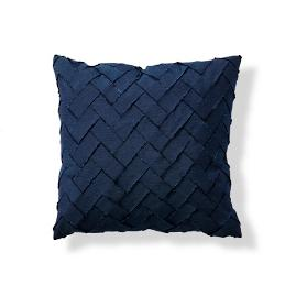 Brick Path Indigo Outdoor Pillow by Porta Forma