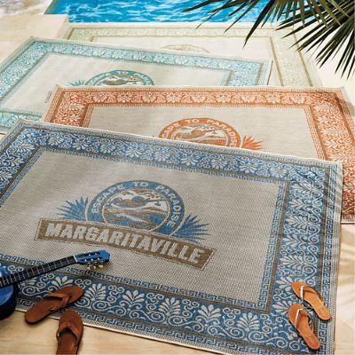 Margaritaville Logo Outdoor Rug Frontgate