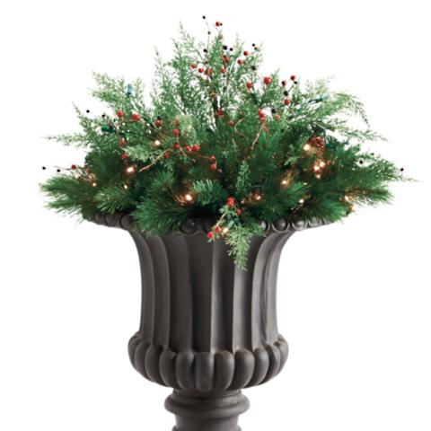 Winter Pine Cordless Urn Filler Frontgate