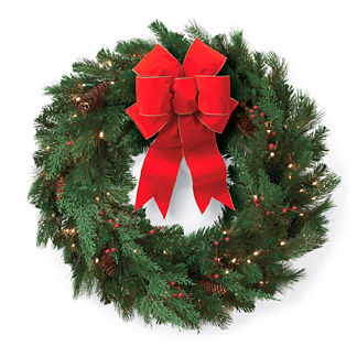 Winter Pine 24-in. Cordless Wreath