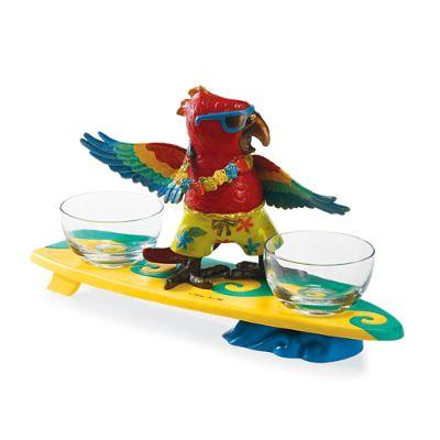 Margaritaville Surfing Parrot Server Frontgate