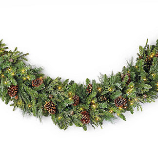 Grand Majestic Garland with Clear Lights